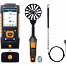 Testo 440. Комплект для вентиляции № 2 с Bluetooth крыльчаткой 100мм (0635 9431), зондом с крыльчаткой 16 мм (0635 9532) и кейсом (0516 4401)